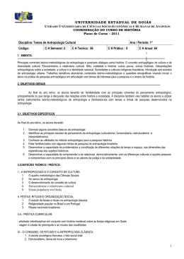 TEMAS DE ANTROPOLOGIA CULTURAL