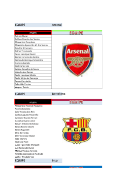 EQUIPE Arsenal EQUIPE Barcelona EQUIPE Inter