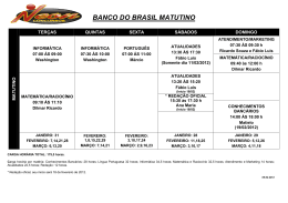 BANCO DO BRASIL MATUTINO