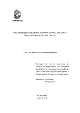 COPPE/UFRJ - Programa de Engenharia Civil