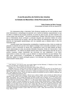 A escrita jesuítica da história das missões no Estado do Maranhão e