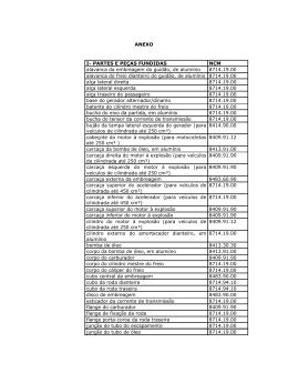 PARTES E PEÇAS FUNDIDAS NCM alavanca da embreagem do