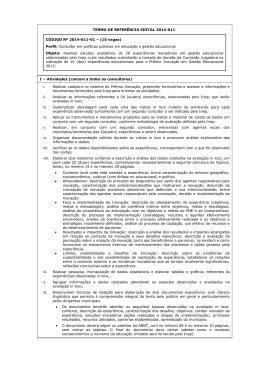 MODELO DE ANÚNCIO PARA VEICULAÇÃO NO SITE DO PNUD