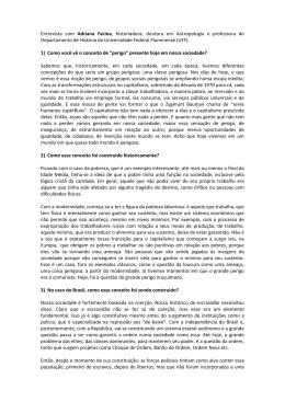 Entrevista com Adriana Facina, historiadora, doutora em - CRP-RJ