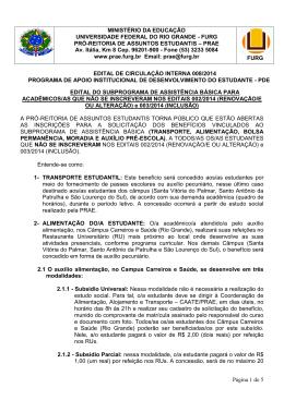 Página 1 de 5 MINISTÉRIO DA EDUCAÇÃO
