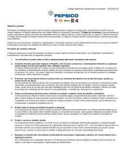 Código Global de Conduta de Fornecedor – 2013/01/23