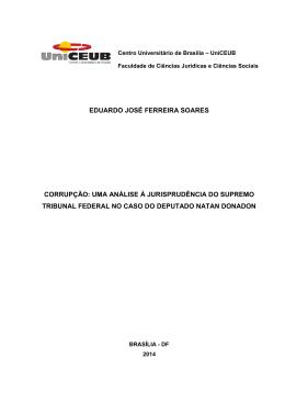 eduardo josé ferreira soares corrupção: uma análise à