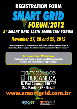 Untitled - Fórum Latino Americano de Smart Grid