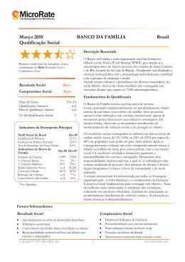 MicroRate Tabela para Qualificação Social