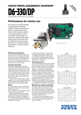 VOLVO PENTA AQUAMATIC DUOPROP Performance for marine use