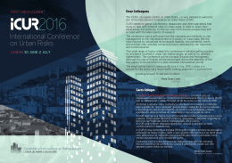 International Conference on Urban Risks
