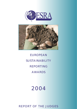 european sustainability reporting awards report of the judges