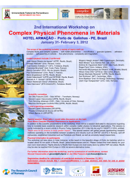 Complex Physical Phenomena in Materials