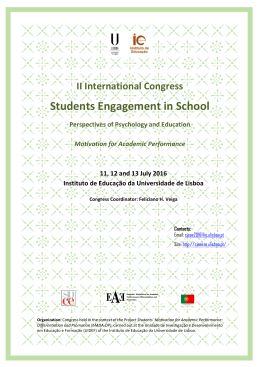 Students Engagement in School - CIEAE 2016