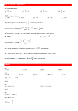 Lista de exercícios – trigonometria rad?