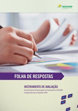 folha de respostas - SESCOOP Serviço Nacional de Aprendizagem