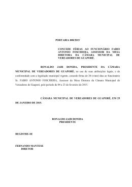 PORTARIA 08/2015 - Câmara de Vereadores