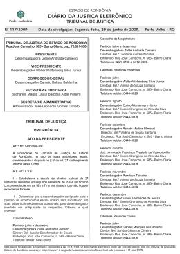 29 - Tribunal de Justiça de Rondônia