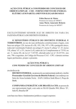 ação civil pública com pedido de concessão de ordem liminar – ceb