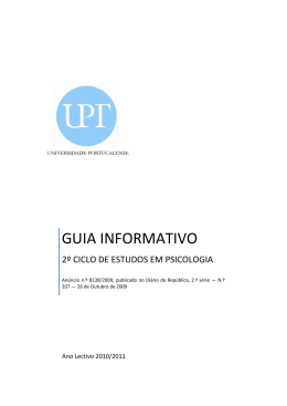GUIA INFORMATIVO - Universidade Portucalense
