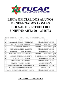 Lista de classificados