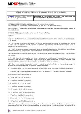 do Ministério Público do Estado de São Paulo ATO (I) N.º 009/93