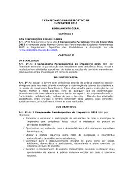 Regulamento Geral - CAPAZ - Prefeitura Municipal de Imperatriz
