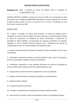 Grupo SCOR - Resolução 3.110