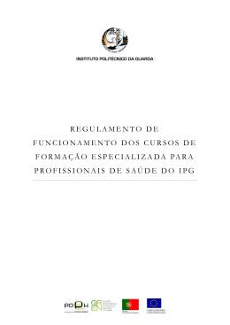 regulamento de funcionamento dos cursos de formação