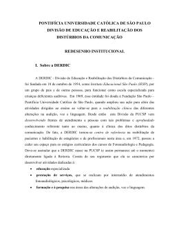 Proposta Aprovada pela DERDIC para o Redesenho - PUC-SP