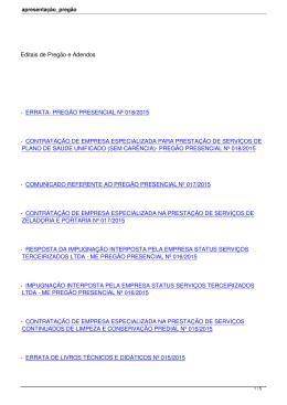 PREGÃO PRESENCIAL Nº 018/2015