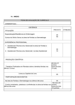 14. ANEXO FICHA DE AVALIAÇÃO DE CURRÍCULO CANDIDATO