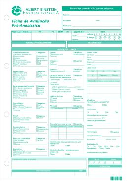 Ficha de Avaliação Pré-Anestésica