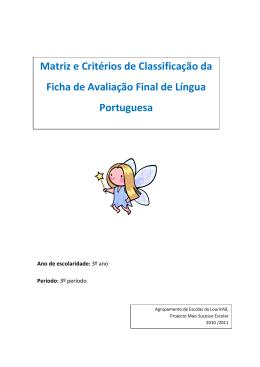 Matriz e Critérios de Classificação da Ficha de Avaliação Final de