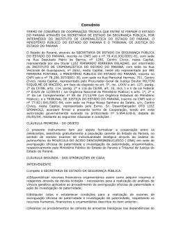 Convênio - Ministério Público do Estado do Ceará
