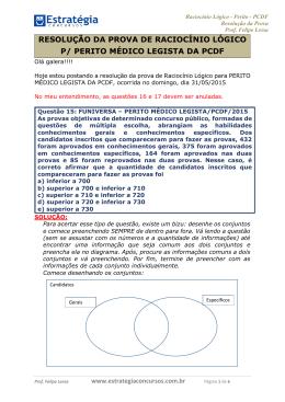 resolução da prova – rlq – perito pcdf – funiversa