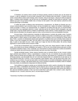 1 LULA, O CONSULTOR * José Pio Martins O Presidente