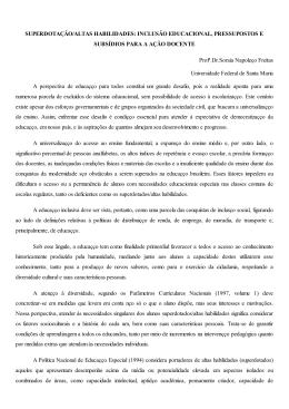 SUPERDOTAÇÃO/ALTAS HABILIDADES