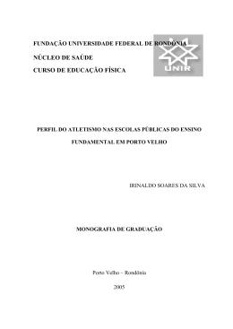 IRINALDO SOARES DA SILVA - Departamento de Educação Física