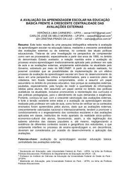 Avaliação de sistemas educacionais no Brasil