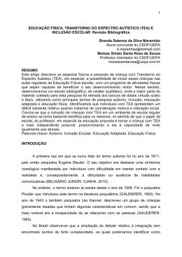 EDUCAÇÃO FÍSICA, TRANSTORNO DO ESPECTRO