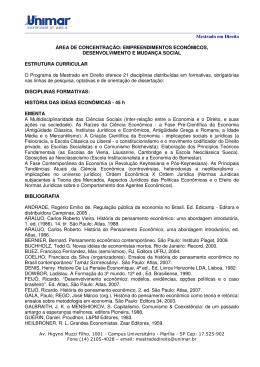 Mestrado em Direito ÁREA DE CONCENTRAÇÃO