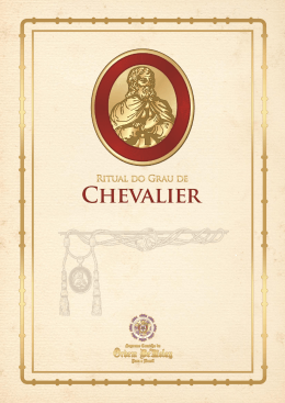 Investidura ao Grau de Chevalier - Grande Capítulo Estadual da