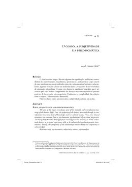 O corpo, a subjetividade e a psicossomática