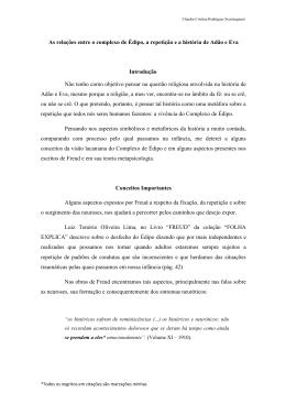 As relações entre o complexo de Édipo, a - cep2012