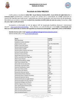 Resultado – Edital 488 – Aucani Idiomas Outubro/2015