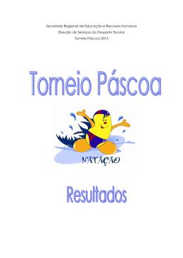 Resultados Torneio Páscoa 07.03.15 Natação