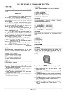 0313 – SUPERVISOR DE FISCALIZAÇÃO TRIBUTÁRIA