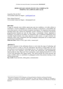 Jacqueline Felix da Silva - IX Colóquio Internacional Educação e