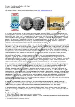Primeira Faculdade de Medicina do Brasil